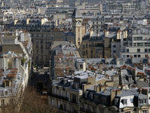 Paris City View #2. Typical view from the center of Paris with its hausmaniens buildings with zinc roofs Stock Photography