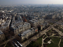 Paris City View #3. Typical view from the center of Paris with its hausmaniens buildings with zinc roofs, a part of Champs-de-Mars and streets Stock Photo