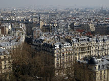 Paris City View #4. Typical view from Paris (left bank) : hausmaniens buildings with zinc roofs Royalty Free Stock Photo
