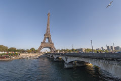 Paris City View. Walking around Paris. View on Eiffel Tower Stock Photography