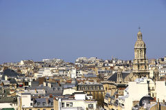 Paris cityscape. From rooftop of Gallery Lafayette royalty free stock images