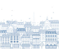 Paris cityscape. With traditional buildings and famous architectures elements Royalty Free Stock Photo