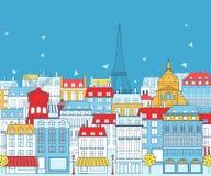 Paris cityscape Arkivfoton