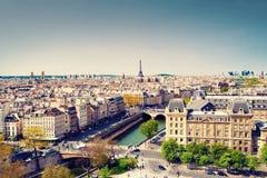 Paris cityscape arkivfoto