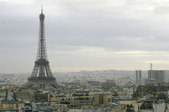Paris cityscape. A overcast day in Paris royalty free stock photography
