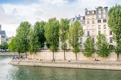 Paris cityscape along Seine river Stock Photography