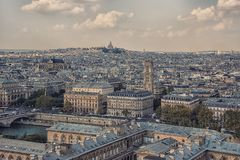 Paris cityscape in daytime Stock Photos