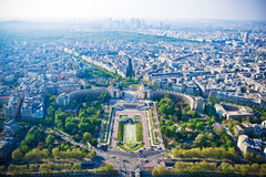Paris cityscape from Eiffel tower Royalty Free Stock Photo