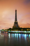 Paris cityscape with Eiffel tower. Early in the morning Stock Photography