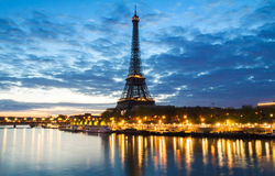 Paris cityscape with Eiffel tower early in the morning. Paris, France Royalty Free Stock Image