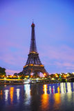 Paris cityscape with Eiffel tower. In the morning Royalty Free Stock Images