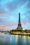 Paris cityscape with Eiffel tower. In the morning Stock Image