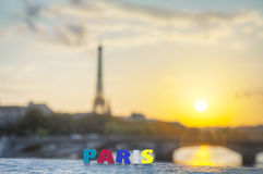 Paris cityscape with the Eiffel tower Stock Photo