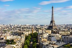 Paris cityscape with Eiffel Tower. Paris, France Stock Photo