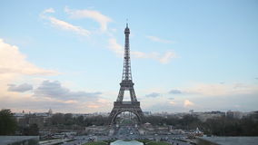 Paris cityscape with Eiffel tower stock video