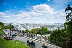 Free Paris. Cityscape Of Paris. Summit Of The Butte Montmartre In Paris. France. Walking Tourists Royalty Free Stock Images - 182325179