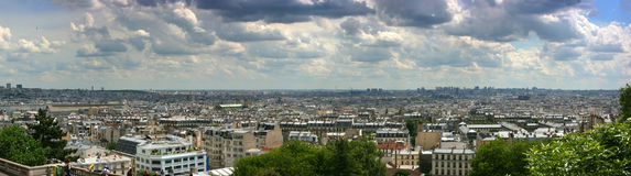 Paris cityscape panorama Stock Images