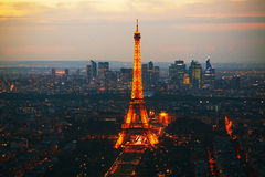 Paris cityscape panorama with Eiffel tower Stock Image