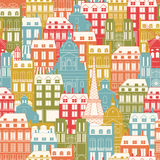 Paris Cityscape pattern Stock Image
