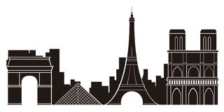 Paris cityscape silhouette. Image. Vector illustration design royalty free illustration