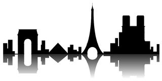 Paris cityscape silhouette. Image. Vector illustration design stock illustration