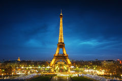 Paris cityscape at sunset Royalty Free Stock Photos