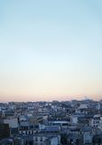Paris cityscape, urban roof. And blue sky in france stock photo