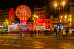 Paris. The classic French cabaret Moulin Rouge. Stock Image