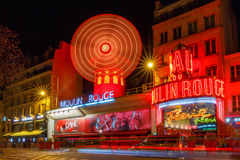 Paris. The classic French cabaret Moulin Rouge. Stock Photo