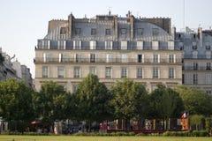 Paris classical apartment building. Near Le Louvre museum royalty free stock image