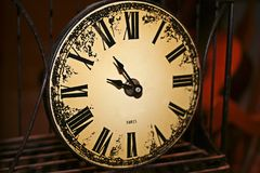 Paris clock. Photo of an antique clock Royalty Free Stock Photos
