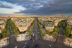 Paris cloudscape afternoon Royalty Free Stock Photography