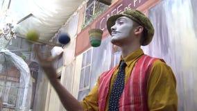 Paris clown stock footage