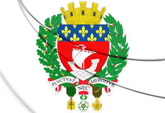 Paris Coat of Arms, France. Stock Images