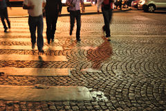 Paris cobblestone street detail Royalty Free Stock Photos