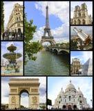 Paris collage Royaltyfria Foton
