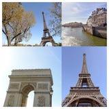 Paris collage Fotografering för Bildbyråer