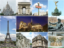 Paris collage - tourist highlights Royalty Free Stock Photography