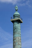 Paris, the Colonne Vendome in the Place Vendome Stock Photos