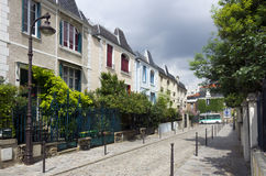 Paris, colored houses Royalty Free Stock Photo