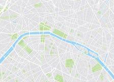 Paris colored vector map Stock Photo