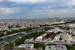 Paris como visto da torre Eiffel fotografia de stock royalty free
