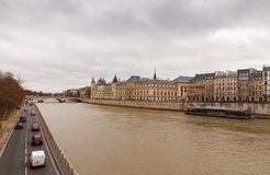 Paris. Conciergerie. Pont Neuf. Stock Photo