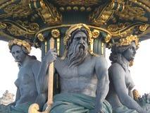 Paris concorde fontanny square zdjęcie royalty free