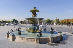 Paris Concorde square fountain detail Royalty Free Stock Photo