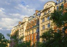 Paris. Construi-la iluminou com sol imagens de stock royalty free
