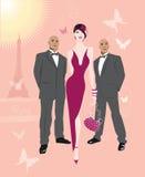 Paris cor-de-rosa 2 Imagem de Stock