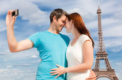 Paris couple Stock Image