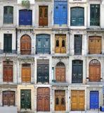 Paris dörrar arkivbilder