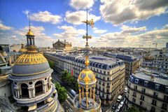Paris-Dachspitze Stockbilder